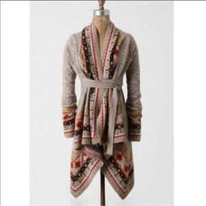 Anthropologie sparrow promises to keep Cardigan